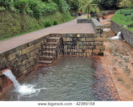 Mineral Spring Canalisation At Sao Miguel Island