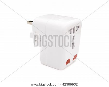 Back View Of A Universal Adapter With Clipping Path