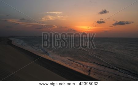 Sunset On A Beach