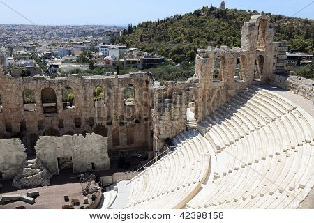 View Of Odeon Of Herodes Atticus