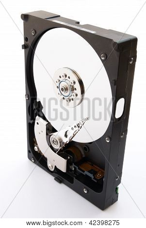 Opened Hard Disk Stand Up