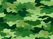 stock photo of mimicry  - Background Illustration of Green Camouflage Print - JPG