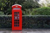 picture of phone-booth  - Traditional red telephone box - JPG