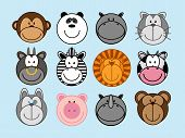stock photo of ape  - set of funny animals - JPG