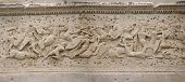 image of gaul  - Frieze sculpture of Roman battle against the Gauls Arch of Triumph Orange France - JPG