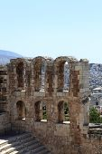 Ruins Of Wall Of Odeon Of Herodes Atticus