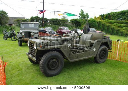 American Military Mutt Jeep