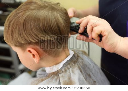 Boy Cut In  Hairdressing Salon