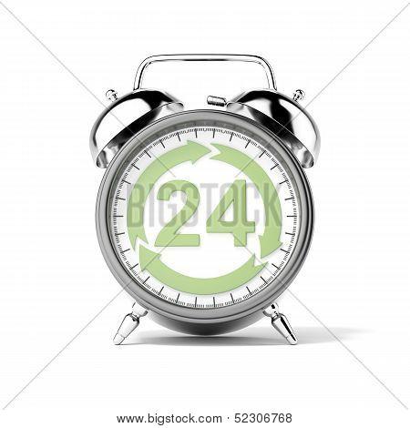 Service twenty-four hours
