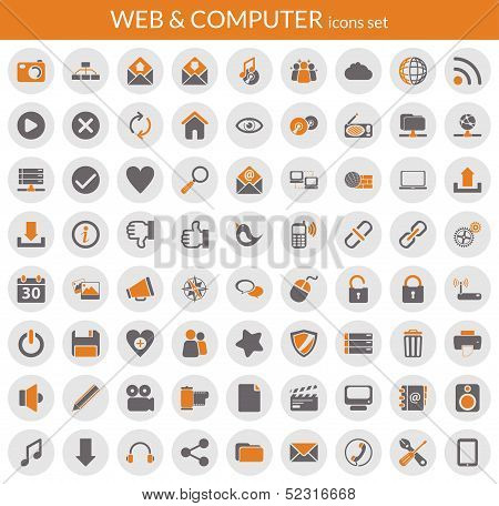 Icons About Web And Computer