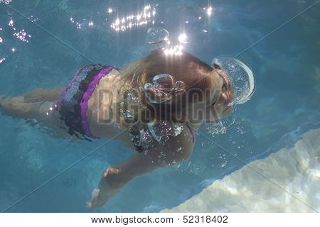 Diving And Blowing Bubbles