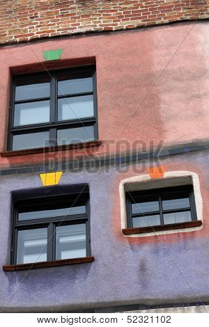 Hundertwasser Haus In Vienna, Austria