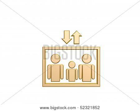 Golden Elevator Symbol