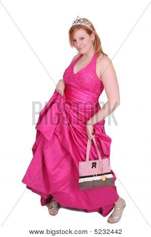 Hot Pink Dress Girl