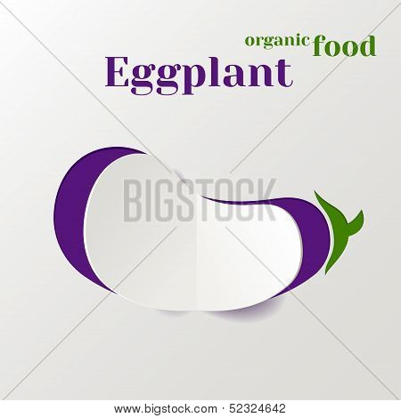 Abstract Paper Eggplant