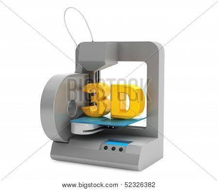 Modern Home 3D Printer Make Object