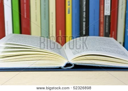 colored books isolated