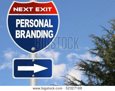 Personal Branding road sign