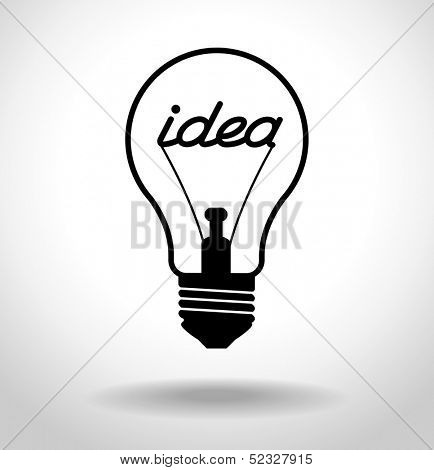 Creative idea in bulb shape. Inspiration concept. File is saved in EPS 10 version. This illustration contains a transparency