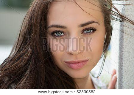 Pretty Flirtatious Woman