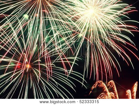 Colorful Firework Sparks