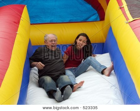 Girl With Her Grandfather