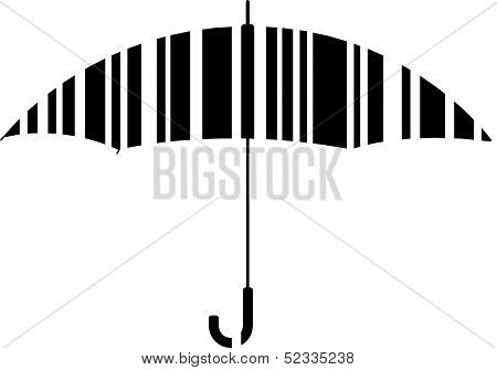 Bar code umbrella