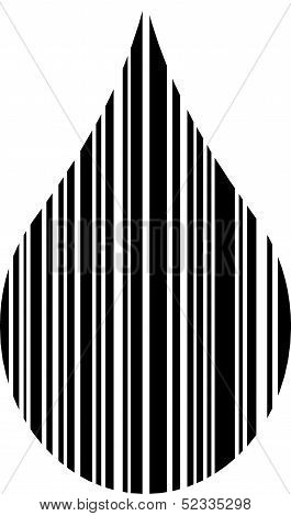 Droplet shaped bar code