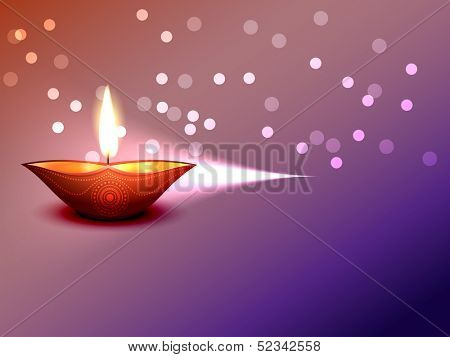beautiful vector diwali diya with space for your text