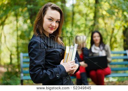 Girl In University Campus