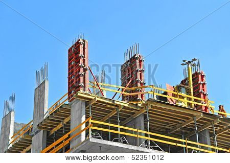 Concrete formwork and floor beams