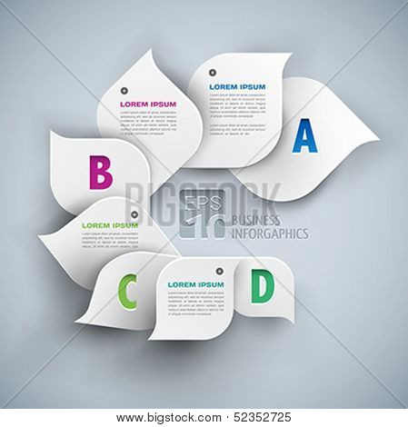 infographics elements 3d abstract background