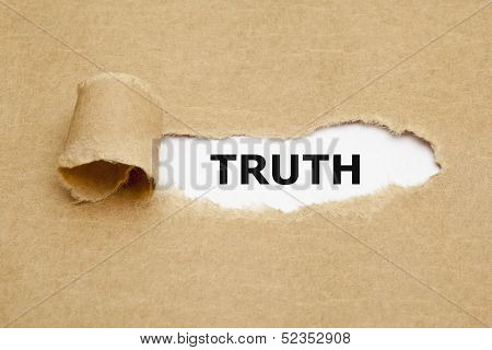 Truth Torn Paper