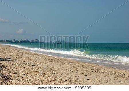 Bonita Beach Seascape With Naples Florida In The Distance