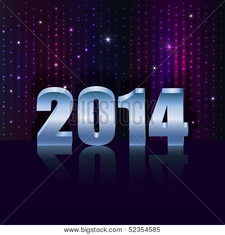 New 2014 year holiday vector background with copy space.