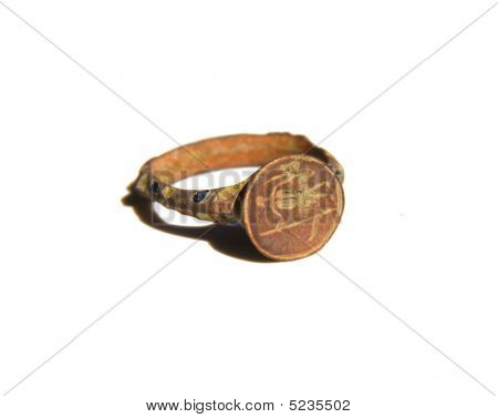 Ancient Seal-ring With Glaze