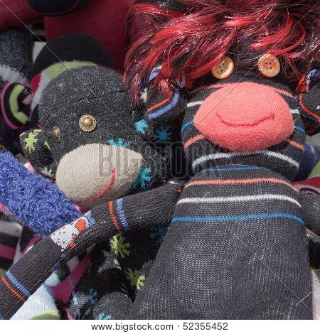 Funny soft monkey toys