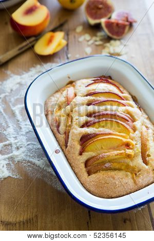Nectarine Almond Pie