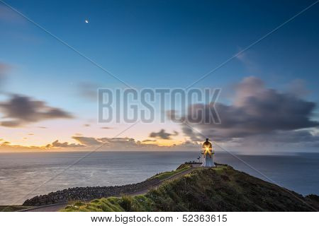 Lighthouse At Cape Reinga After Sunset