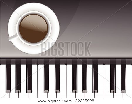 Cup of coffee and musical