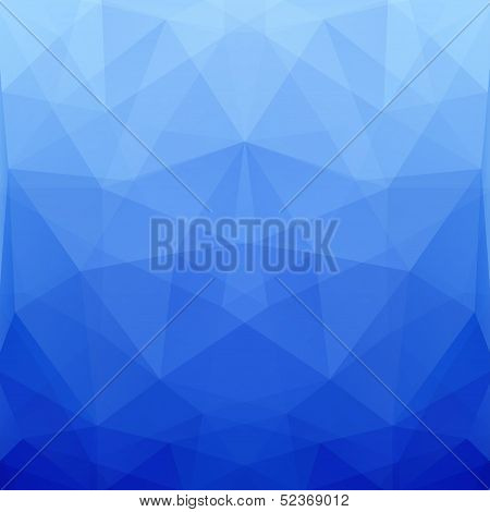 Abstract Blue Vector Polygonal Background For Design