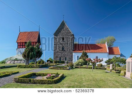 Historic Church Ruts Kirke On Bornholm