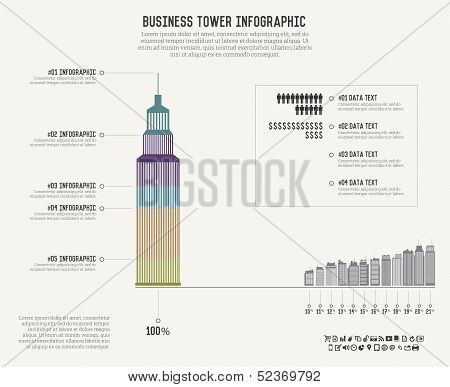 Business Tower Infographics