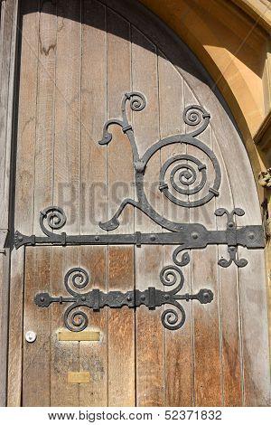 Wooden Door To Balliol College. Oxford. England