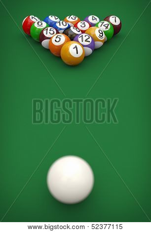 3D Cue And Pool Balls