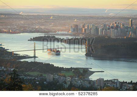 Vancouver High Angle View, British Columbia