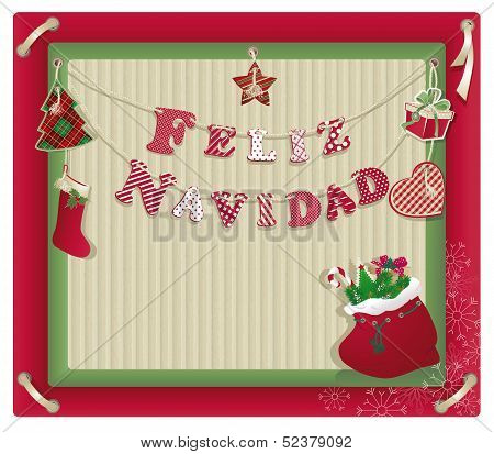 Christmas Card With Feliz Navidad