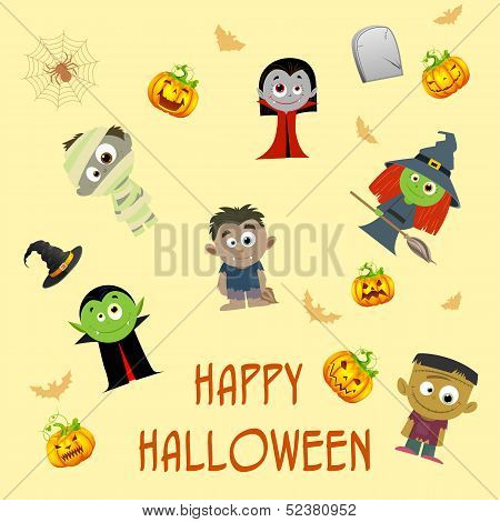 Halloween Patterned Background