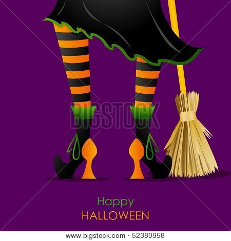 Witch Leg with Broomstick