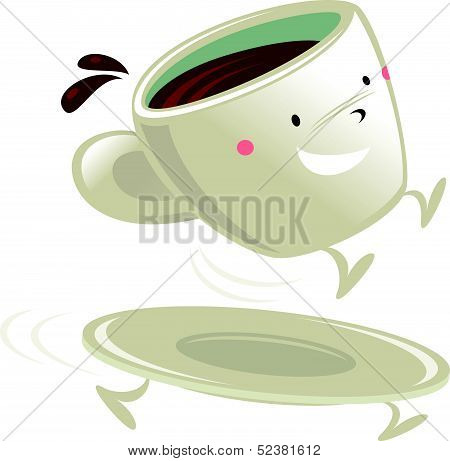 Cup of coffee cartoon character